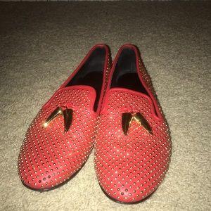 Giuseppe Zanotti Red Studded Flats FABULOUS